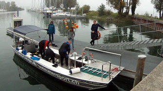 Bodensee, diving boat