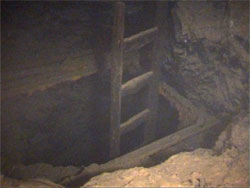 flooded shaft with ladder