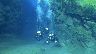 Silfra - diving in the Continental drift between the  eurasic and the North Americanic Continental Drift