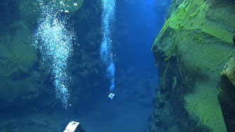 Silfra - diving in the Continental drift