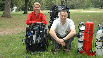 Germany, Oli and Gitti with the Sentinel Rebreather